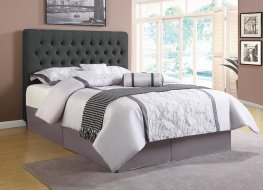 Chloe Charcoal Upholstered Twin Bed
