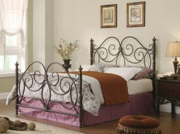 London Dark Bronze Queen Headboard