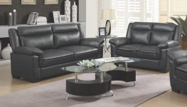 Arabella Brown Faux Leather Sofa & Love
