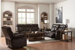 Zimmerman Brown Power Motion Sofa & Love
