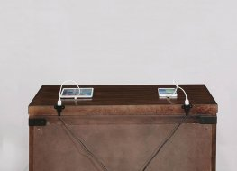 Artesia Dark Cocoa Three-Drawer Nightstand