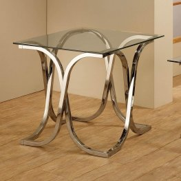 Contemporary Nickel End Table