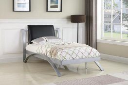 LeClair Black and Silver Youth Twin Bed