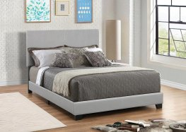 Dorian Grey Faux Leather Full Bed