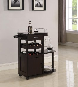 Transitional Capp. Serving Cart
