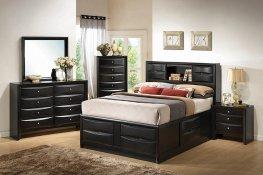 Briana Transitional Black E. King Bed