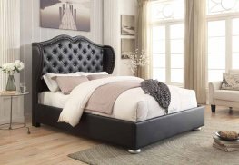 Clarice Black Upholstered King Bed