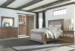 Florence Traditional Rustic Smoke and Grey Cal. King Bed