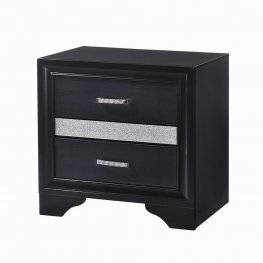 Miranda Black Nightstand