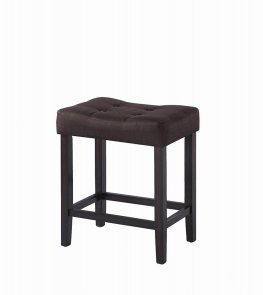 Casual Brown Upholstered Counter-Height Stool