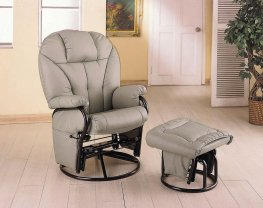 Casual Bone Faux Leather Glider