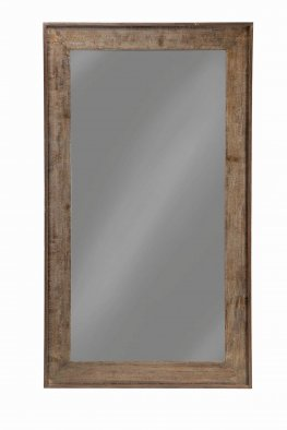 Distressed Black Accent Mirror