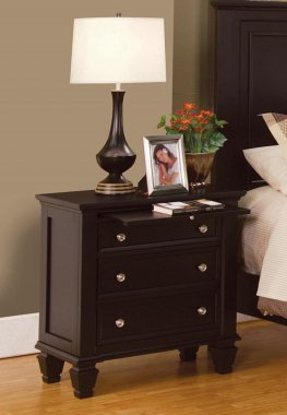 Sandy Beach Capp. Three-Drawer Nightstand
