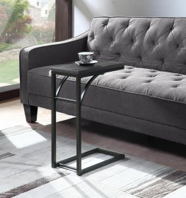 Industrial Black and Grey Accent Table