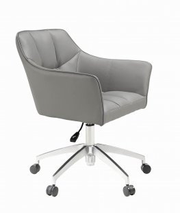Modern Taupe Upholstered Office Chair