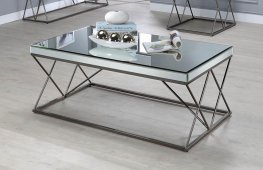 Contemporary Black Nickel Coffee Table