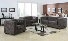 Alexis Charcoal Sofa & Love