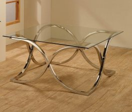 Contemporary Nickel Coffee Table