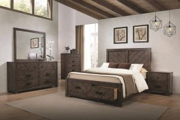 Lawndale Rustic Weathered Grey Queen 5-Pc.