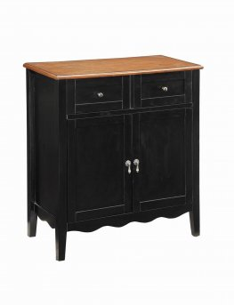 Traditional Black Wine Cabinet