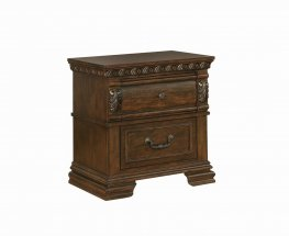 Satterfield Traditional Warm Nightstand