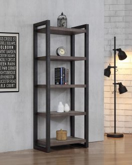 Luke Weathered Oak 70in. Bookcase