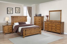Brenner Rustic Honey Cal. King Bed