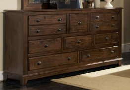 Laughton Rustic Eight-Drawer Dresser