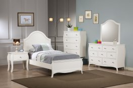 Dominique French Country White Full 5-Pc.