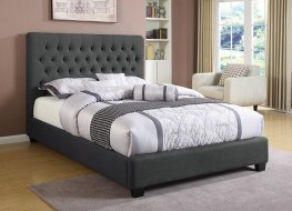 Chloe Charcoal Upholstered Full Bed