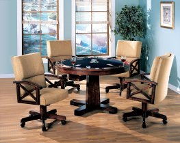 Marietta Tobacco Dining/Game Table & 4 Chairs