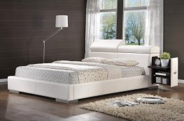 Maxine Upholstered Cal. King Bed White