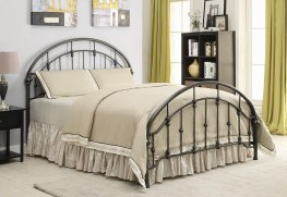 Maywood Black Metal Queen Bed