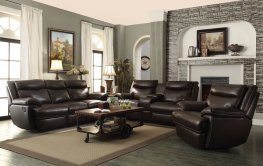 MacPherson Power Motion Brown Sofa & Love