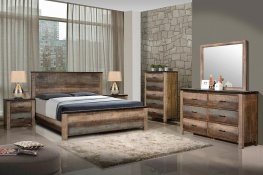 Sembene Rustic Antique Multi-Color Cal. King Bed