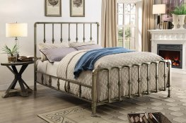 Micah Champagne Metal King Bed