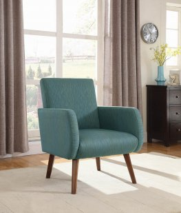 Mid-Century Modern Cyan Accent Chair