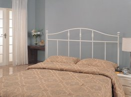 Cottage White Metal Queen Headboard