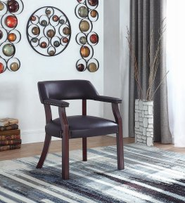 Modern Burgundy Guest Chair