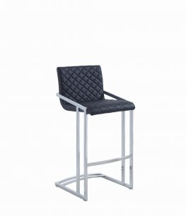 104876 - Contemporary Black Bar Stool