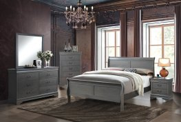 Louis Philippe Iii Grey 5 Pc. Queen Set