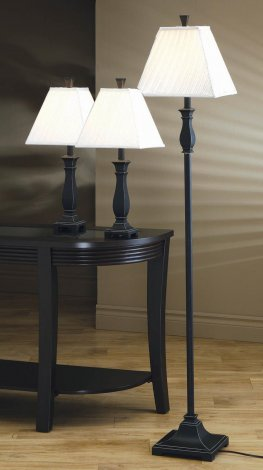 Traditional Black Brushed Gold Lamp