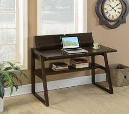 Chestnut Writing Desk With Power Outlet