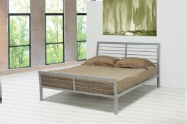 Cooper Silver Metal Full Bed