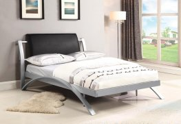 LeClair Black and Silver Youth Full Bed