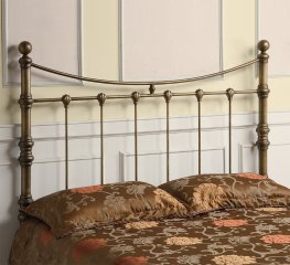 Antique Gold Metal Headboard