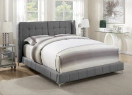 Goleta Grey Upholstered Cal. King Bed