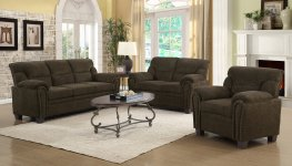 Clemintine Brown Sofa & Love