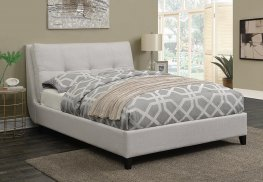 Amador Beige Upholstered Twin Platform Bed