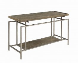 Contemporary Grey Metal Sofa Table